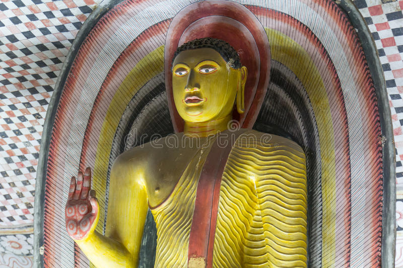 Buddha images in dambulla. Ancient Buddha images in Dambulla Rock Temple caves, Sri Lanka stock photography