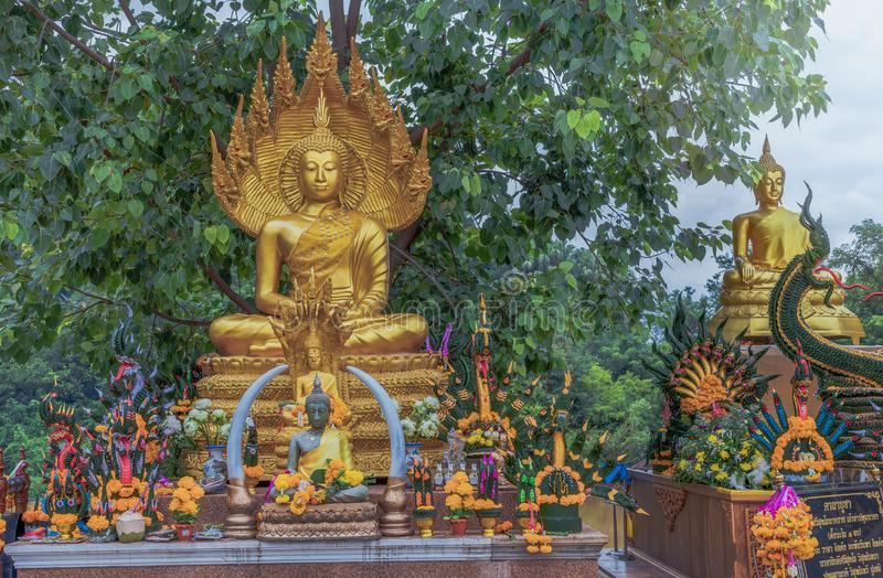 Buddha images that people worship. 12 Aug 2019 , UdonThani Thaland ,Buddha images that people worship royalty free stock images
