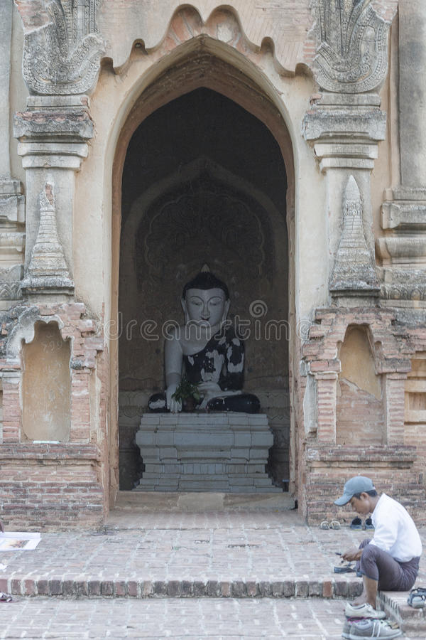 Buddha inside the Monastery royalty free stock photos