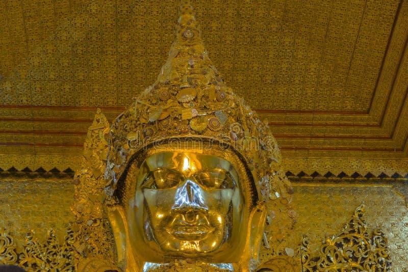 Buddha inside the Temple stock photo