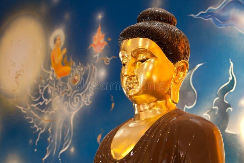 Buddha insiktstaty arkivfoton