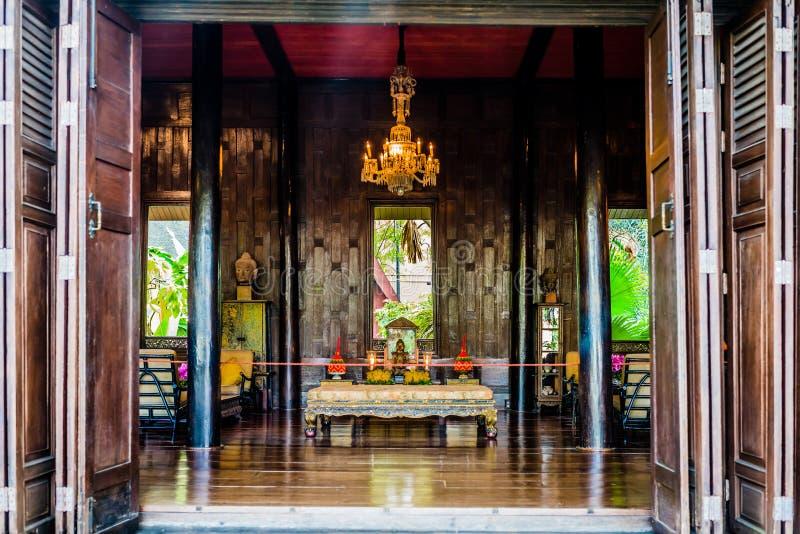 Buddha Jim Thompson ołtarzowy dom muzealny Bangkok Thailand obraz royalty free
