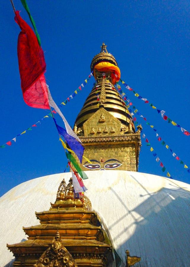 buddha kathmandu stupa arkivbilder