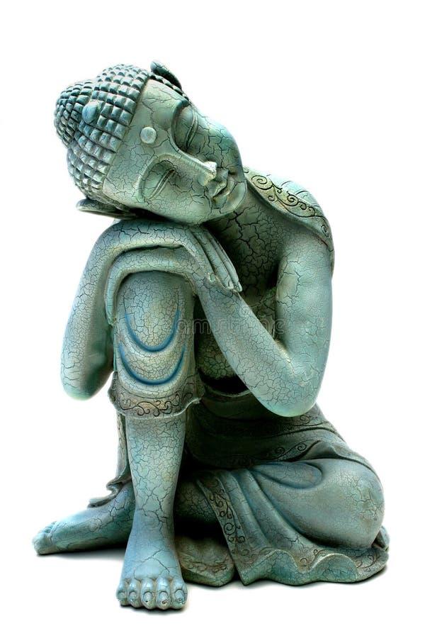 buddha koppla av arkivfoto