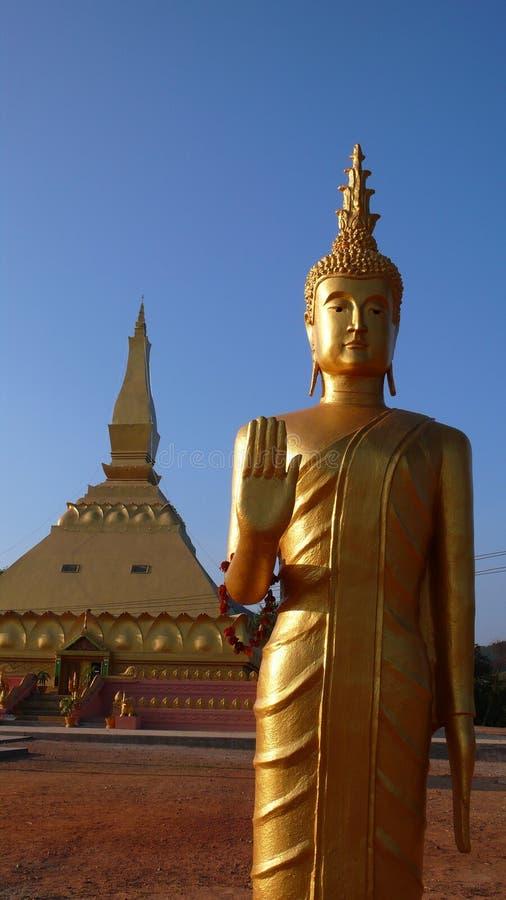 buddha laos skulptur arkivfoto