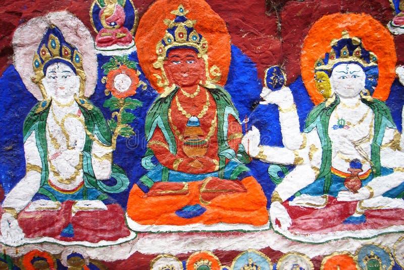 buddha lhasa skulptur royaltyfri fotografi