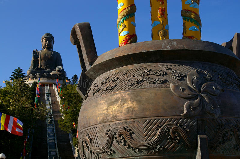 buddha Lin monasteru po dębny tian fotografia royalty free