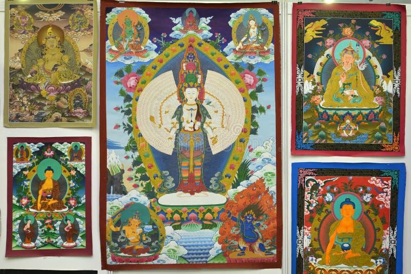 Buddha-Malerei lizenzfreie stockfotos