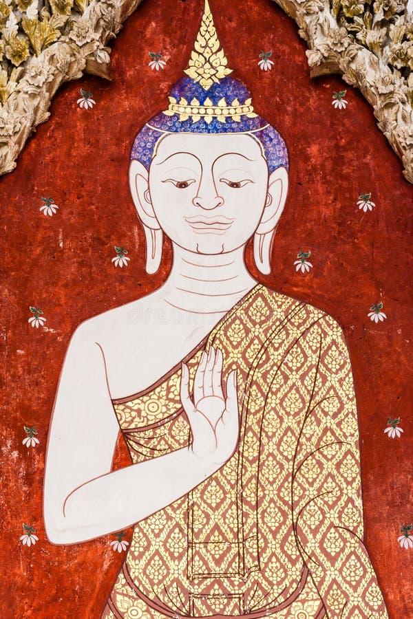 Buddha-Malereien lizenzfreies stockbild