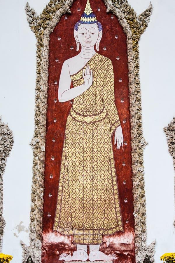 Buddha-Malereien lizenzfreie stockfotos
