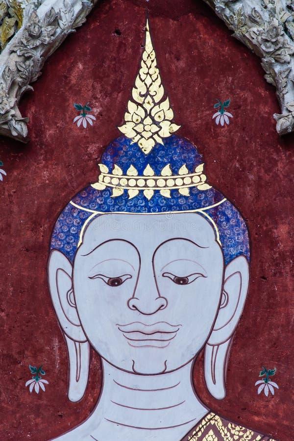 Buddha-Malereien stockbild