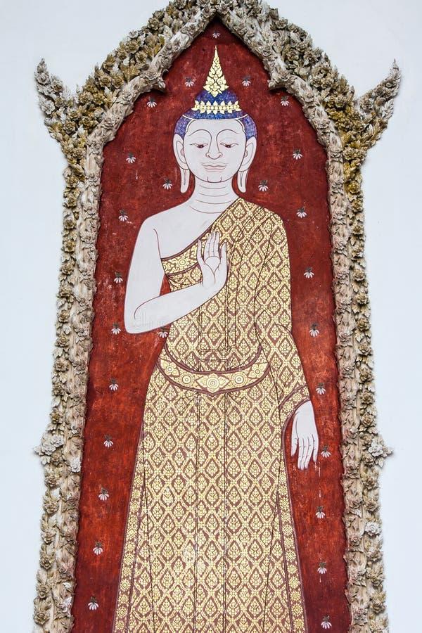 Buddha-Malereien lizenzfreie stockbilder