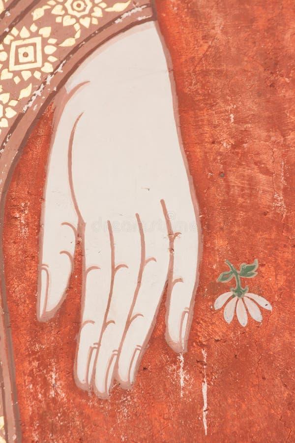 Buddha-Malereien stockbilder