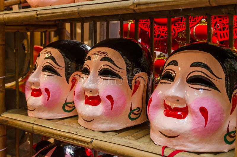 Buddha mask for lion dance royalty free stock images
