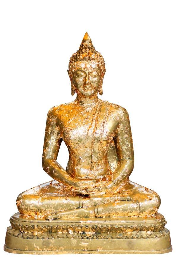 Buddha in meditation isolated stock images