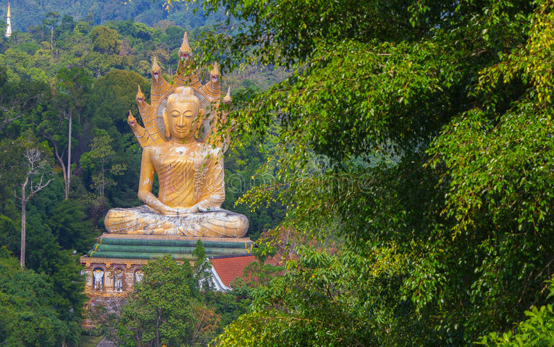 Buddha On Mountain royalty free stock photo