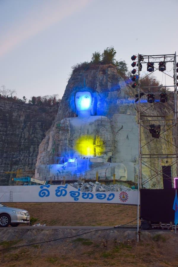 Buddha mountain. In suphanburi thailand.Phra Phustha Pulya Kiri Sri Suvunaphum./big-buddha-uthong stock photo