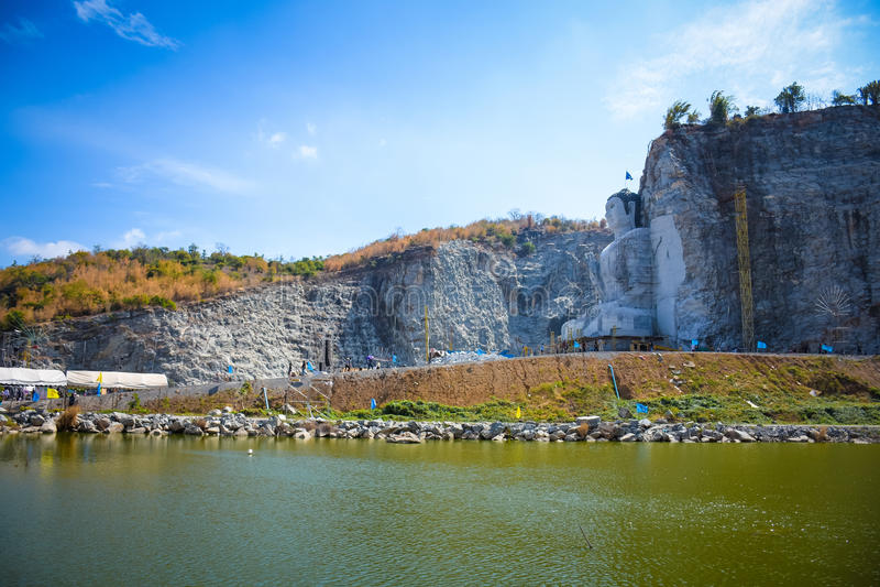 Buddha mountain. In suphanburi thailand.Phra Phustha Pulya Kiri Sri Suvunaphum./big-buddha-uthong stock images