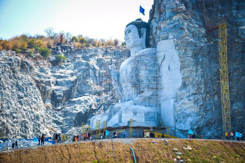 Buddha mountain. In suphanburi thailand.Phra Phustha Pulya Kiri Sri Suvunaphum./big-buddha-uthong stock photography