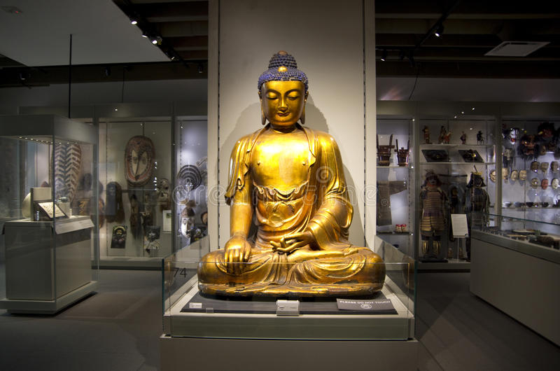Buddha am Museum von Anthropologie an UBC lizenzfreie stockfotos