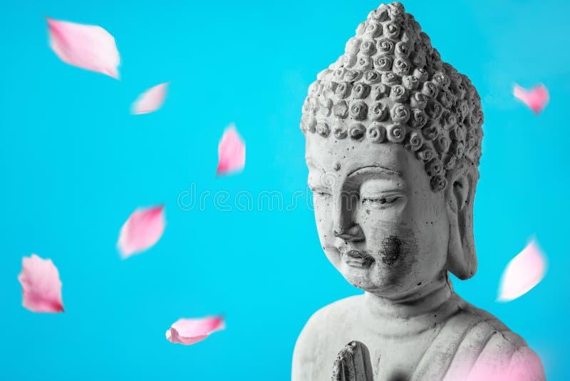 Buddha na meditação fotos de stock royalty free
