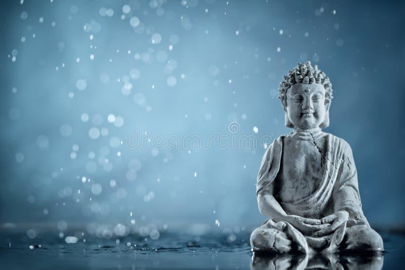 Buddha na meditação fotos de stock