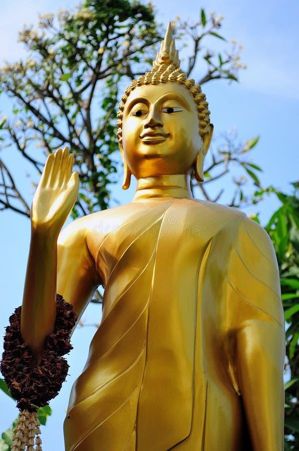 Buddha nel mont dorato Tailandia immagini stock