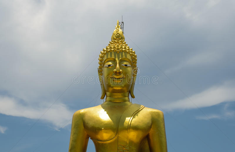 Buddha nieba tło fotografia royalty free