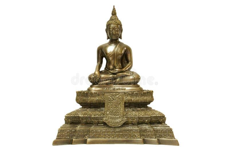 Buddha odizolowywał przeciw białemu tłu obraz stock