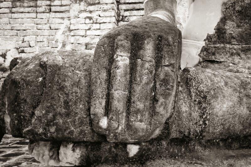 Buddha old black and white royalty free stock photo