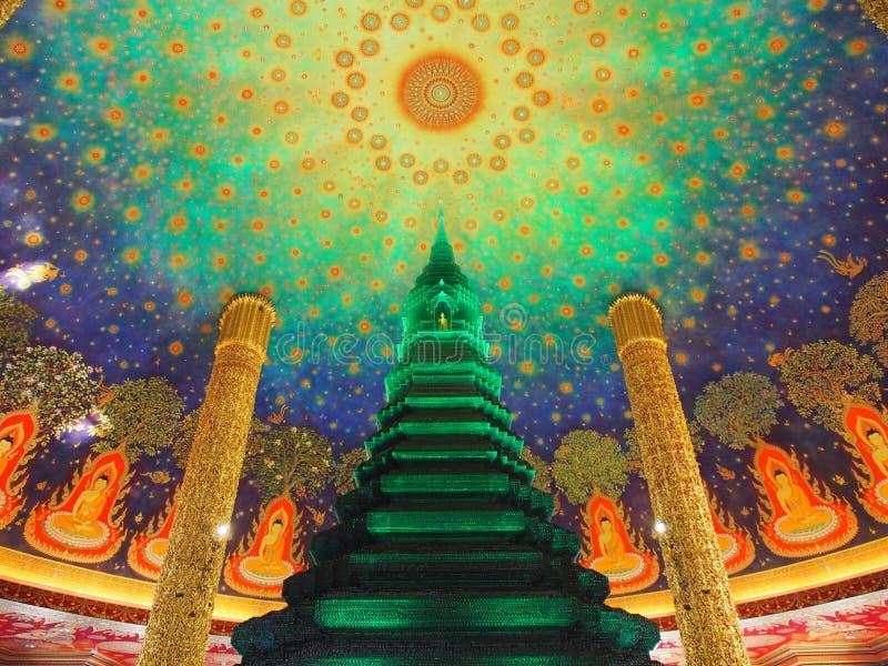 Buddha pagody dekoracja zdjęcie royalty free