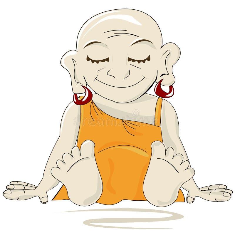 Buddha pequeno ilustração do vetor