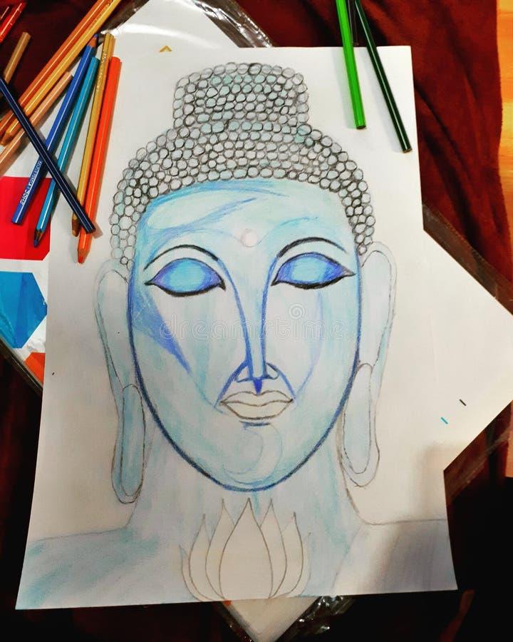 Buddha pokój obraz royalty free