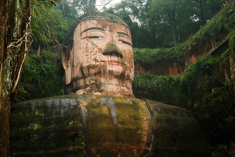 buddha porcelanowy wielki leshan Sichuan zdjęcie royalty free