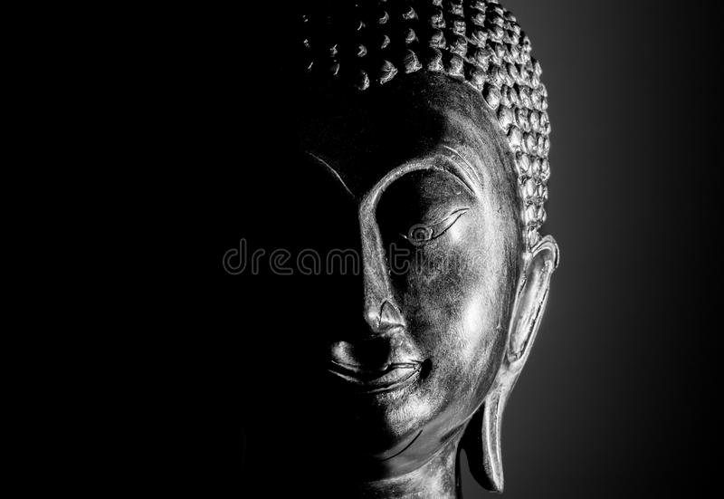 Buddha portrait isolated. royalty free stock photos
