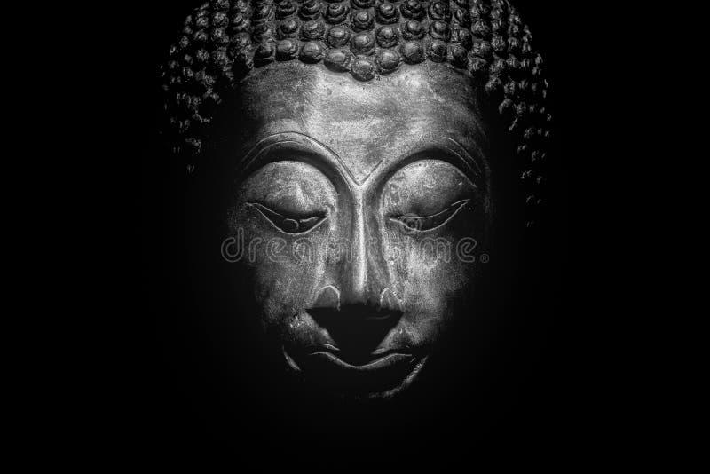 Buddha portret odizolowywający obrazy royalty free
