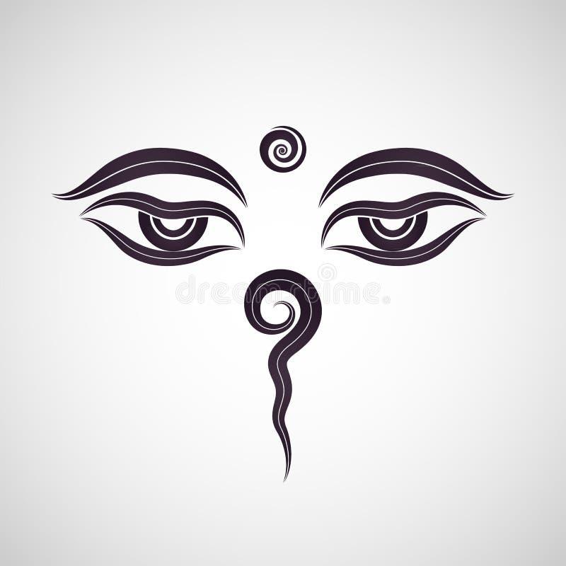 buddha przygląda się Nepal ilustracja wektor