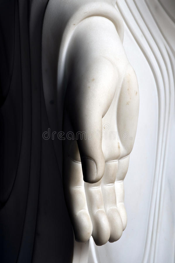 buddha ręka s obrazy royalty free