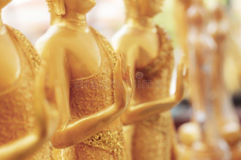 Buddha ręka w świątyni fotografia royalty free