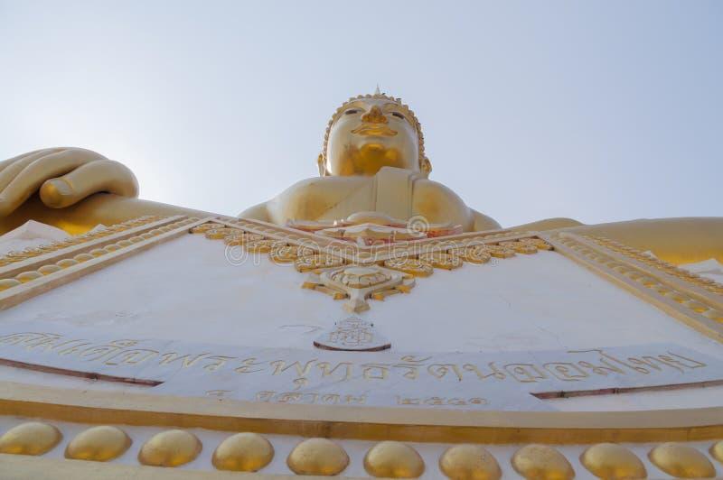 Buddha Ratana Jom Thai, large statue of Buddha at Wat Hua Ta Luk. Nakorn Sawan, Thailand royalty free stock photo