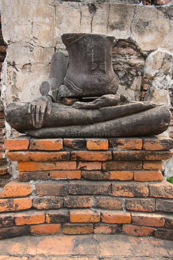 Buddha ruins,Thai Temple ,At wat Chaiwatthanaram,Ayutthaya stock images