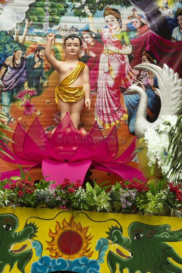 Buddha`s Birthday celebration royalty free stock images