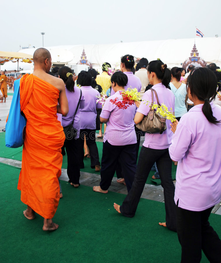 Buddha's birthday in Thailand royalty free stock image