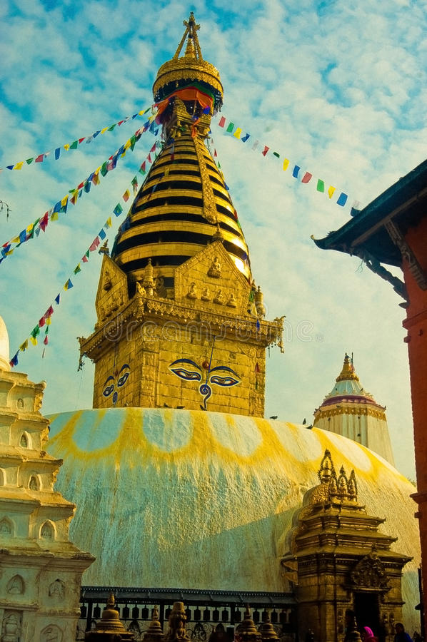 Swayambhunath, the monument of lord Buddha royalty free stock image