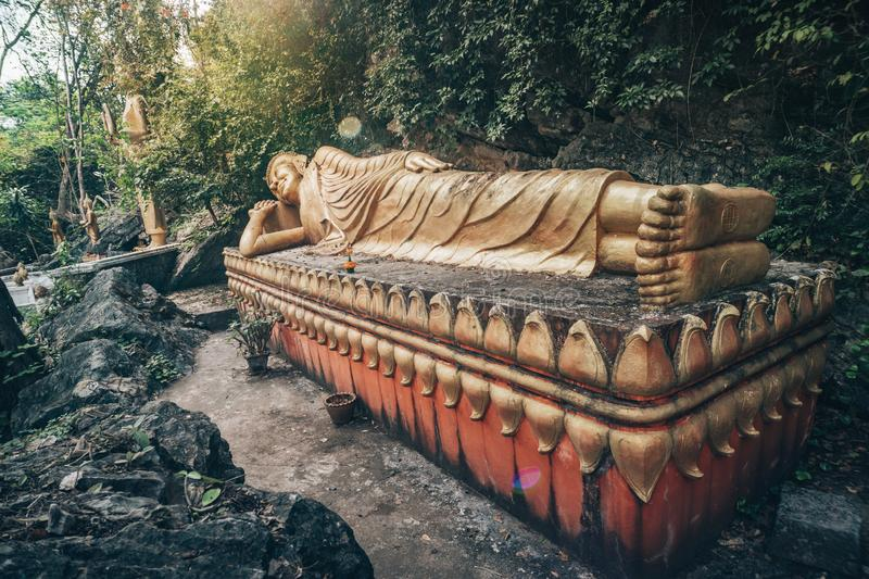 Buddha's Footprint Temple at Luang Prabang. Laos stock photography