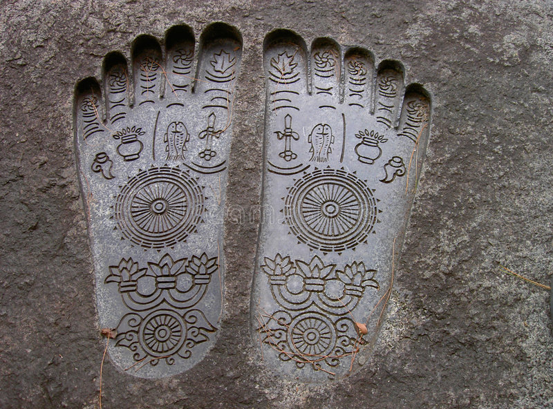 Buddha's soles royalty free stock photo