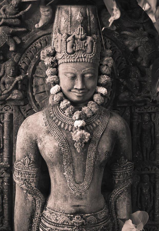 Buddha's stone figure stock image