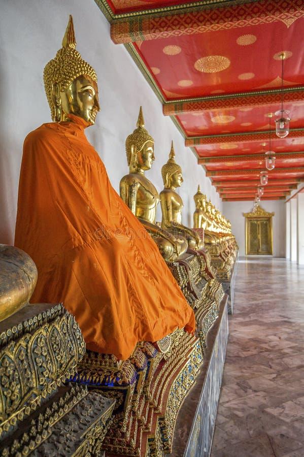 Buddha's in Wat Pho Temple, Bangkok, Thailand. Golden buddha's in the Wat Pho temple in Bangkok, Thailand stock images