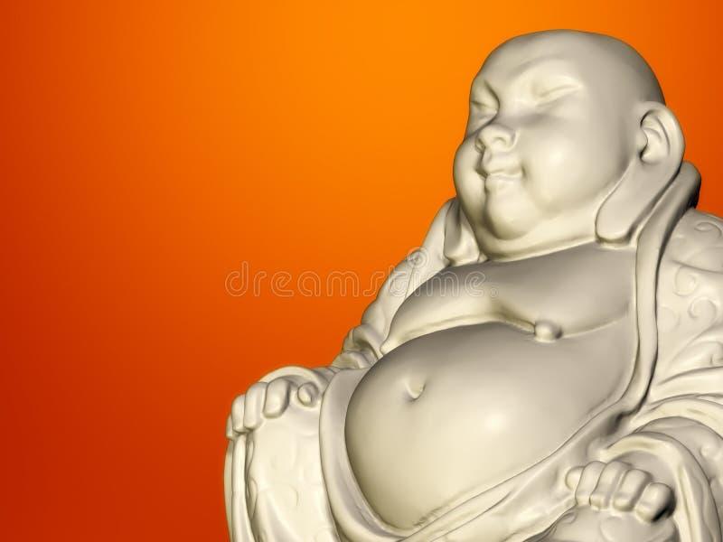 Buddha sculpture royalty free illustration