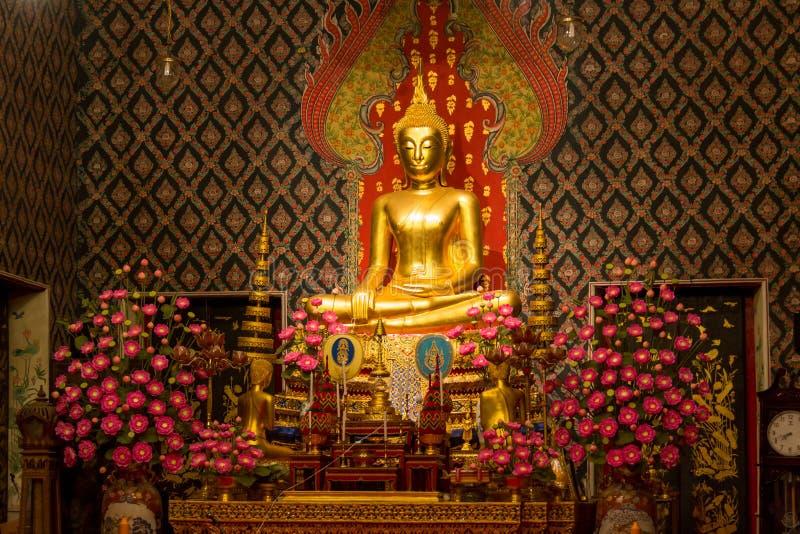 Buddha Sculpture in Wat Moli Lokayaram Ratcha Worawihan Temple, Bangkok, Thailand royalty free stock photography